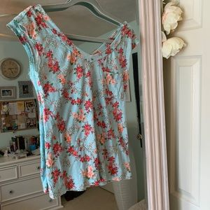 Zip back floral top